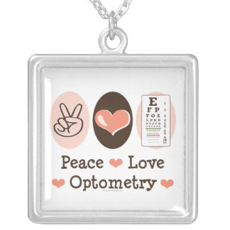 Peace Love Optometry Necklace