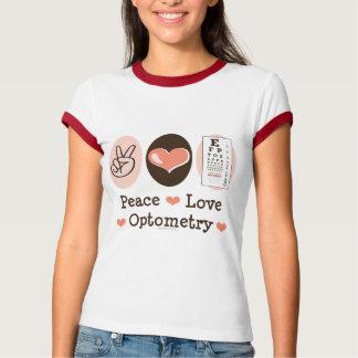 Peace Love Optometry Optometrist Ringer Tee Shirt