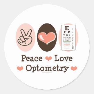 Peace Love Optometry Stickers