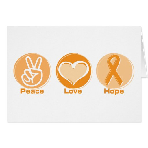 Peace Love Orange Hope Greeting Card