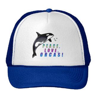 Peace Love Orcas Hats