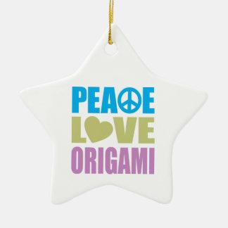 Peace Love Origami Ornaments