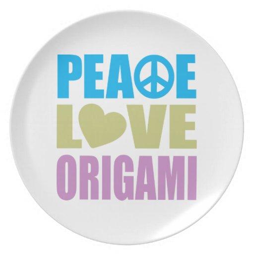 Peace Love Origami Plates