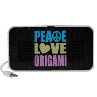 Peace Love Origami Speaker