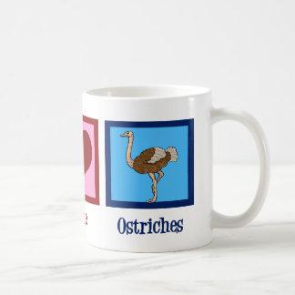 Peace Love Ostriches Coffee Mug