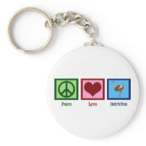 Peace Love Ostriches Keychain