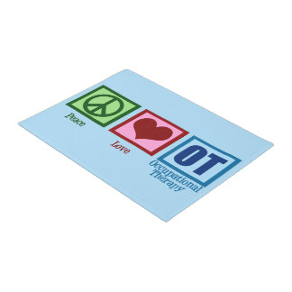 Peace Love OT Occupational Therapy Doormat