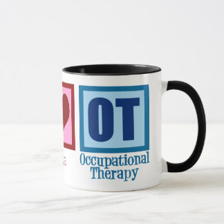 Peace Love OT Occupational Therapy Mug