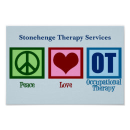 Peace Love OT Occupational Therapy Poster