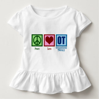 Peace Love OT Occupational Therapy Toddler T-shirt