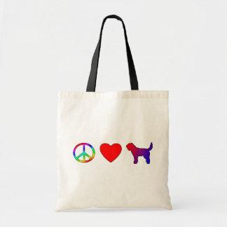 Peace Love Otterhounds Budget Tote Bag