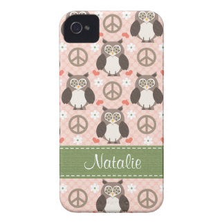 Peace Love Owl Blackberry Bold Case Cover