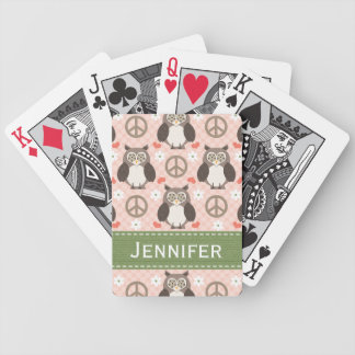 Peace Love Owls Bicycle® Playing Cards