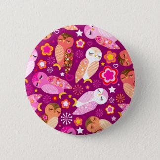 Peace & Love Owls Button