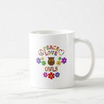 Peace Love Owls Coffee Mug