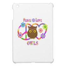 Peace Love Owls iPad Mini Cases