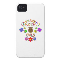 Peace Love Owls iPhone 4 Cover