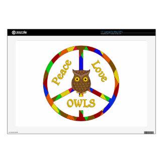 Peace Love Owls Laptop Skin