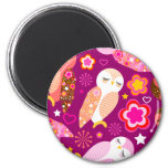 Peace & Love Owls Magnets