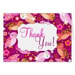 "Peace & Love Owls ""Thank You"" Cards"