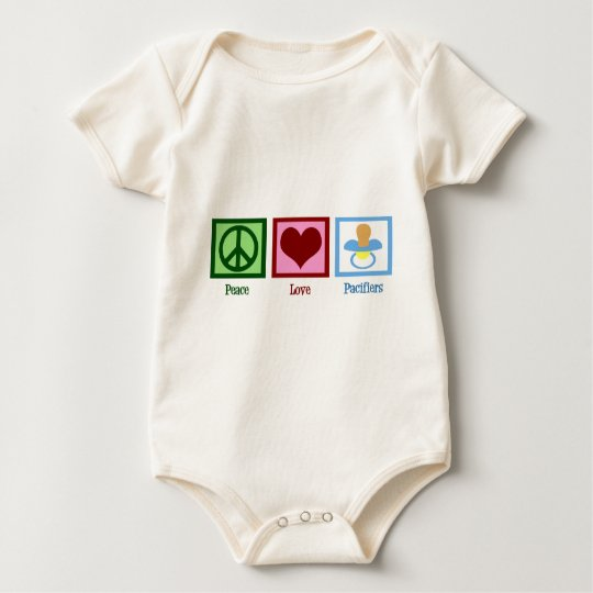 Peace Love Pacifiers Baby Bodysuit
