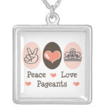 Peace Love Pageants Necklace