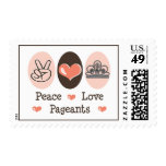Peace Love Pageants Postage Stamps