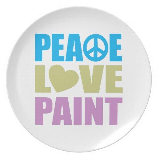 Peace Love Paint Dinner Plate