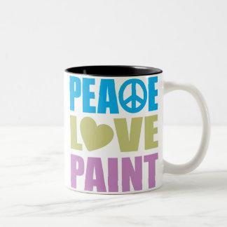 Peace Love Paint Coffee Mugs