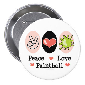 Peace Love Paintball Button