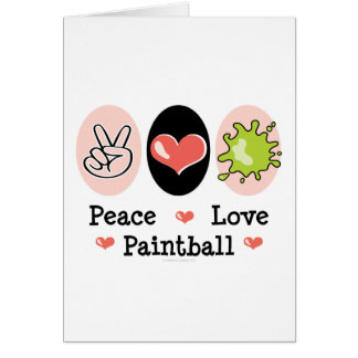 Peace Love Paintball Greeting Card