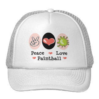 Peace Love Paintball Hat