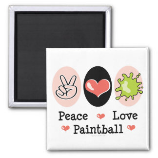 Peace Love Paintball Magnet
