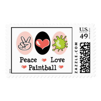 Peace Love Paintball Postage Stamps