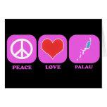 Peace Love Palau Greeting Card