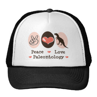 Peace Love Paleontology Cap Trucker Hat