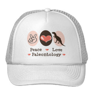 Peace Love Paleontology Dinosaur Hat