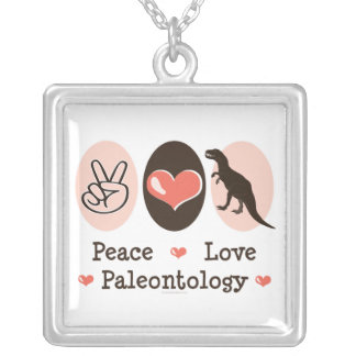 Peace Love Paleontology Necklace