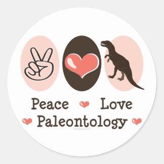 Peace Love Paleontology Stickers