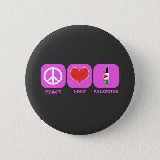 Peace Love Palestine Button
