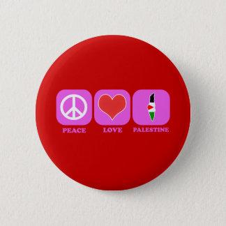 Peace Love Palestine Pinback Button