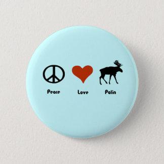 Peace Love Palin Pinback Button