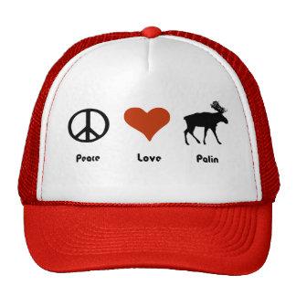 Peace Love Palin Trucker Hat