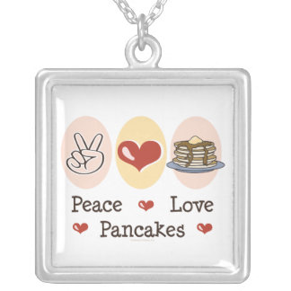 Peace Love Pancakes Necklace
