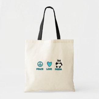 peace love panda bag