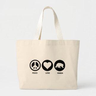 Peace Love Panda Canvas Bags