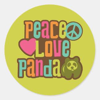 Peace Love Panda Classic Round Sticker