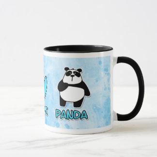 peace love panda mug