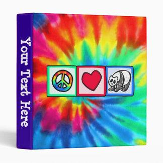 Peace, Love, Pandas Binder