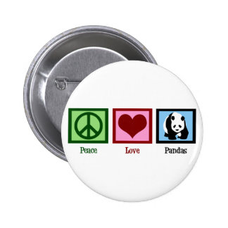 Peace Love Pandas Button